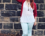 Outfit Post: Mint Jeans