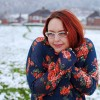 Outfit Post: Florals and Navy in the Snow