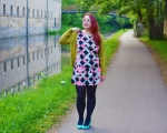 Outfit Post: Neon Geometric Dress