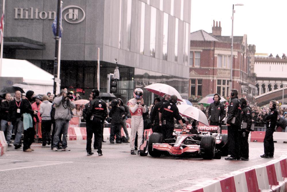 Jenson Button, Manchester, Formula One, McLaren, Vodafone