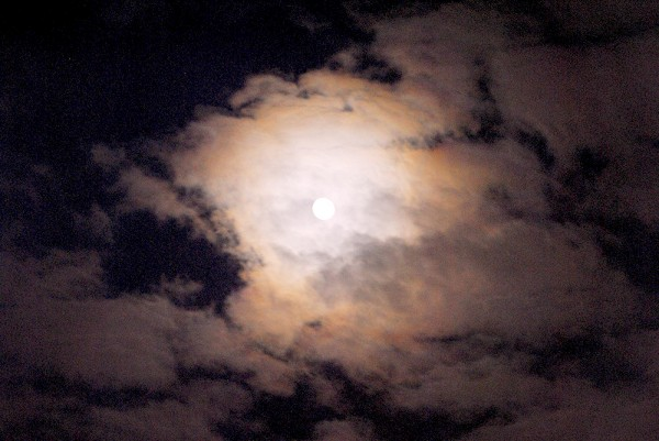 Moon, Sky, Clouds, Night