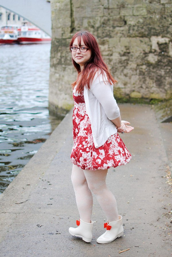 Floral, Doll, Red, Cream, Nautical Outfit Post