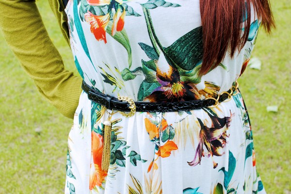 Summer Floral, Tropical Print Dress