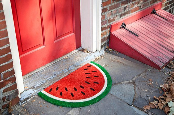 Watermelon Door Mat, Welcome Mat