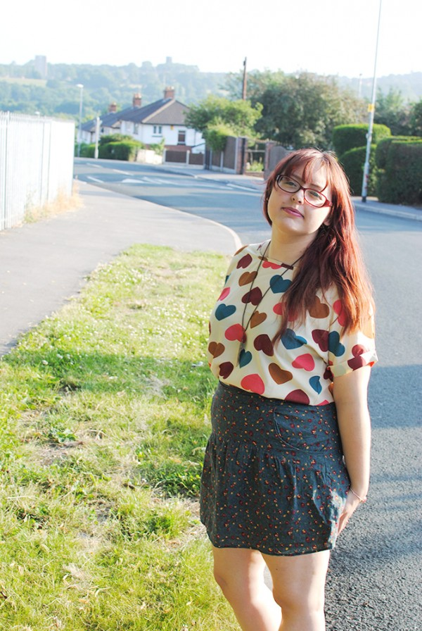 Outfit Post, Fashion, Heart, Heart Print, Colourful, Colour, Summer