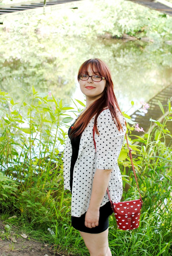 Polka Dot, Summer, Red, Black, White