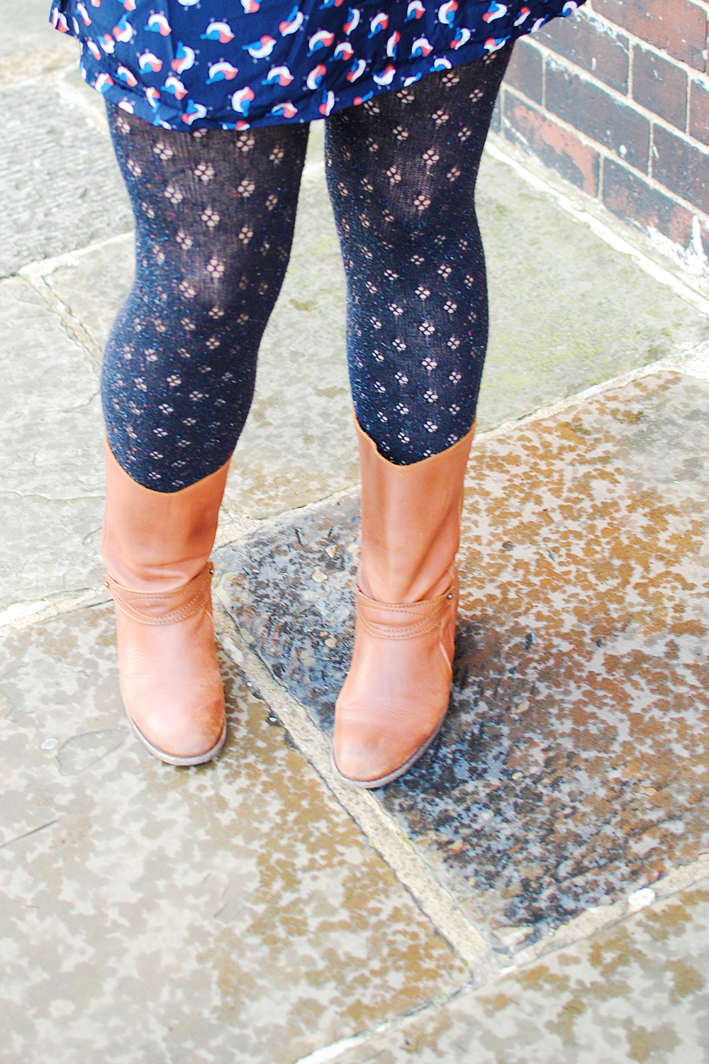 Winter, Patterned Tights