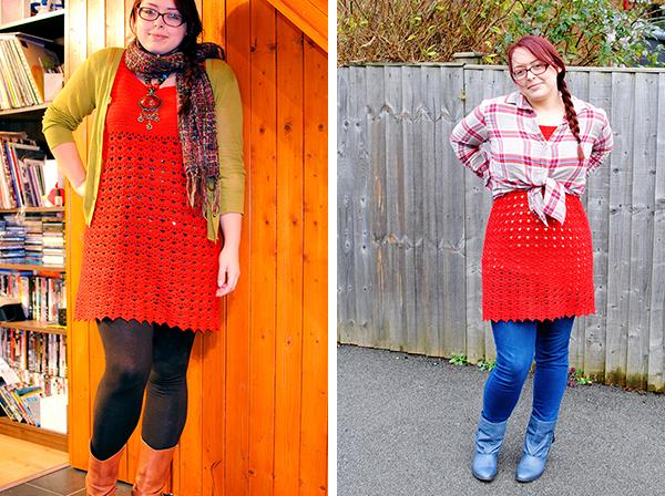 Remixing red dress, ways to wear a dress