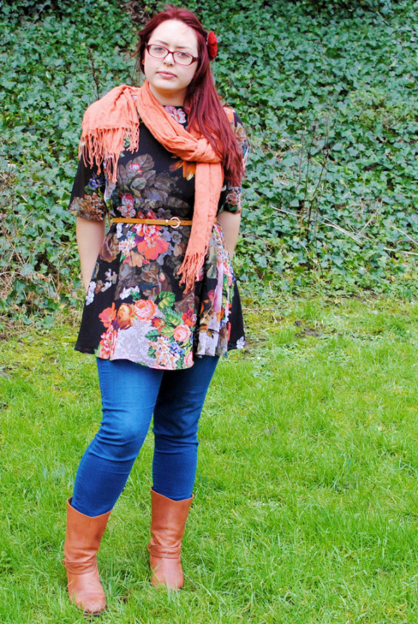 Floral Dress, Winter Outfit, Layers