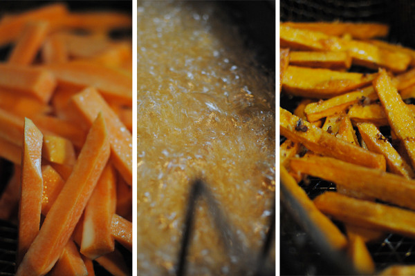 Sweet Potato Fries Cooked In a Fryer