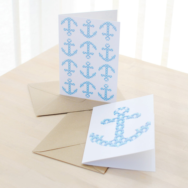Anchor Cards, Nautical Greetings Card