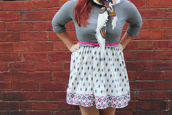 Pattern Clashing Outfit