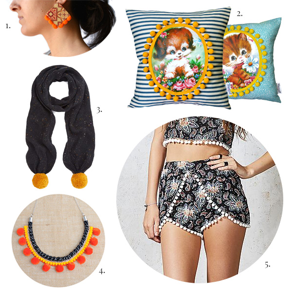 Pom Pom Shorts, Pom Pom Accessories