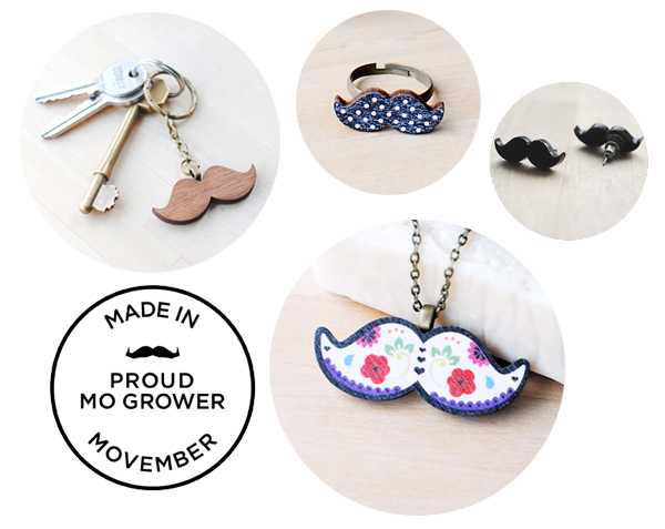 Movember Moustache Jewellery