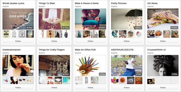 Best Pinterest to follow