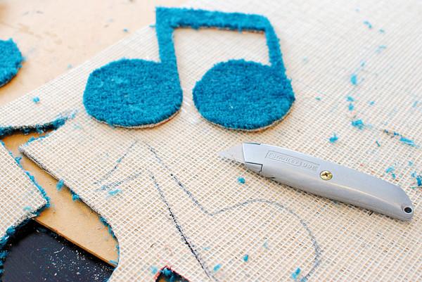 Crafting with carpet scraps