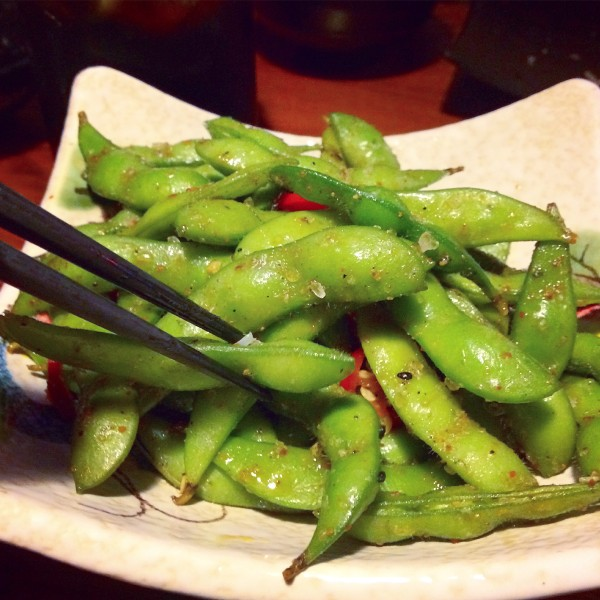 Spicy Edamame Beans, Japanese Edinburgh