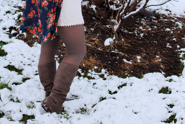 Winter Outfit Post, Winter Boots With Dresses