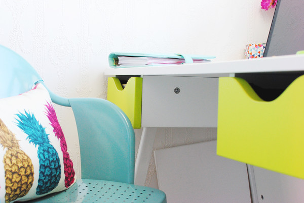 Office furniture with a pop of colour