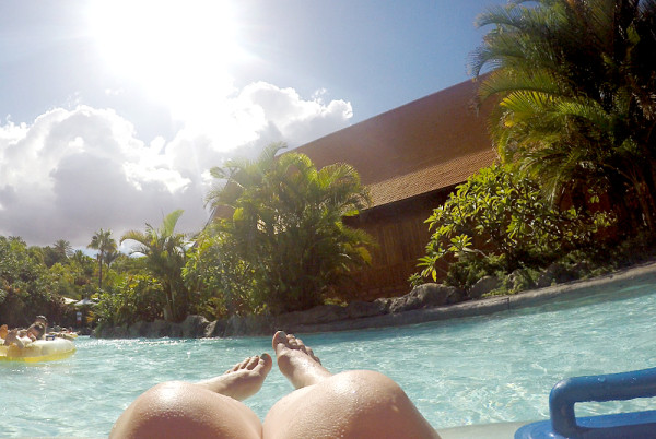 Using a GoPro at Siam Park Waterpark