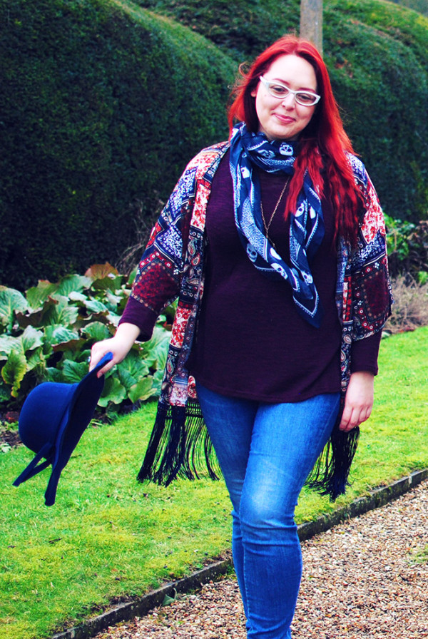 Casual weekend outfit, jeans and layers