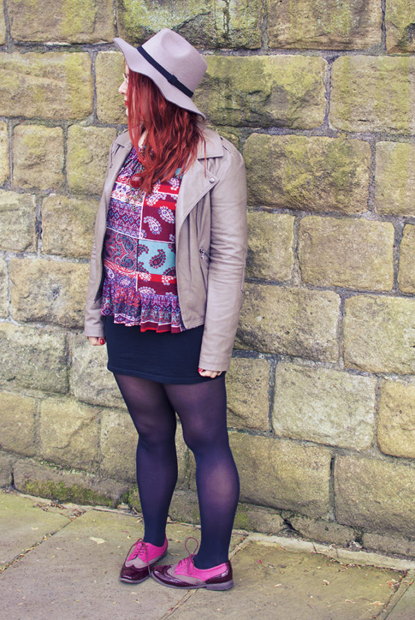 Gypsy Blouse Outfit Post with Leather Jacket