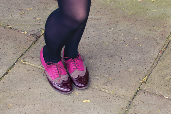 Colourful brogues, best brogues, pink brogues
