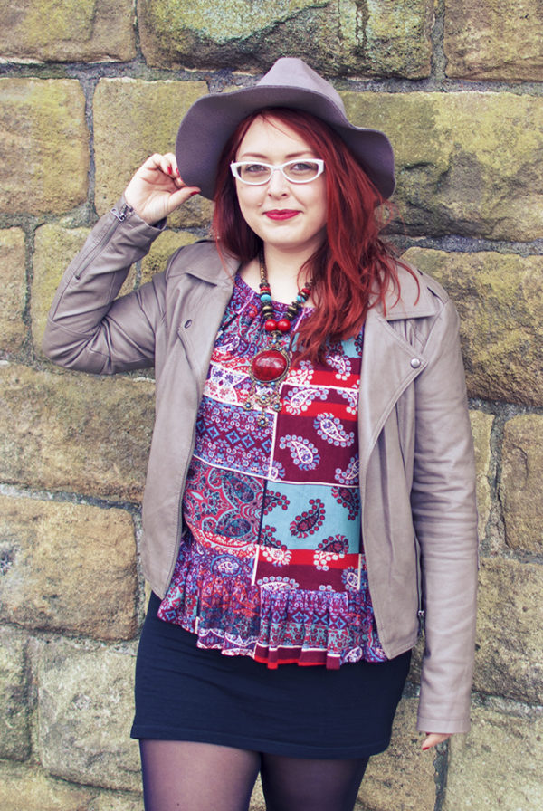 How to style a gypsy blouse with IBS.