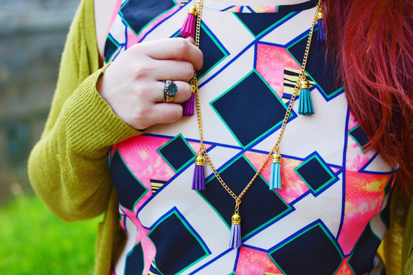 Colourful Tassle Necklace