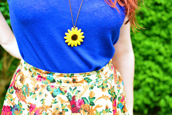 Handmade Sunflower Necklace