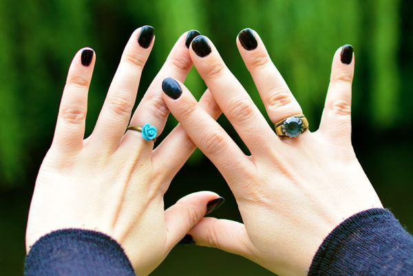 Handmade Jewellery, Beautiful Teal Rings