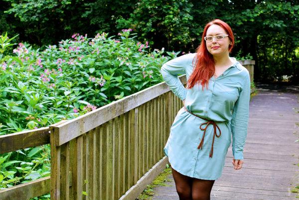 Mint Shirt Dress Outfit Post