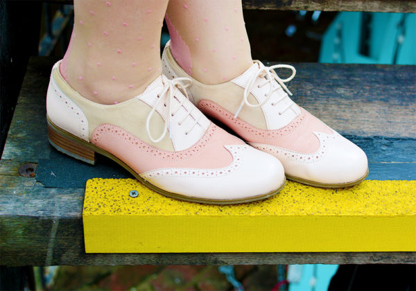 Dusty Pink Brogues from Clarks