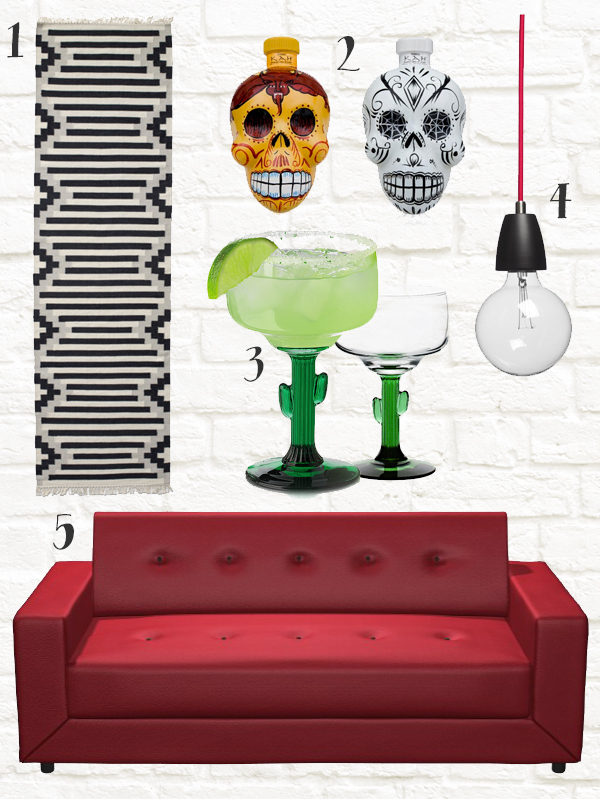 Inspiration for our diner and Mexican themed home bar