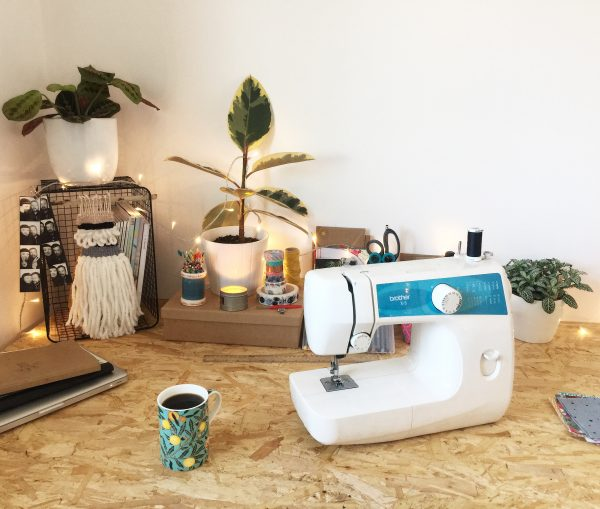 UK Etsy Seller Workspace - By The Lock Handmade Sewing Desk