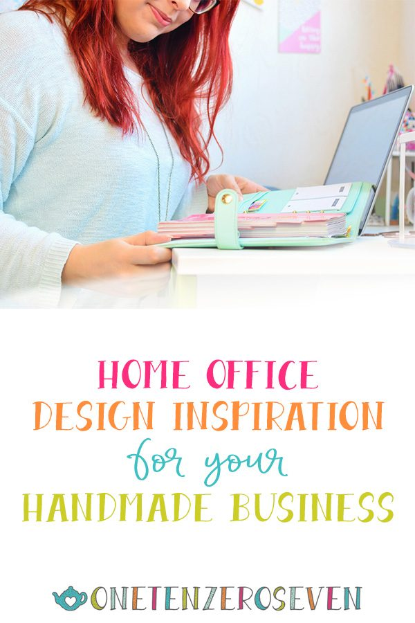 Home Office Design Inspiration for your handmade business. A good working office needs...