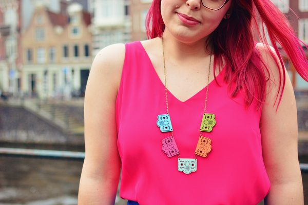 Papel Picado Mexican Bunting Necklace by Onetenzeroseven