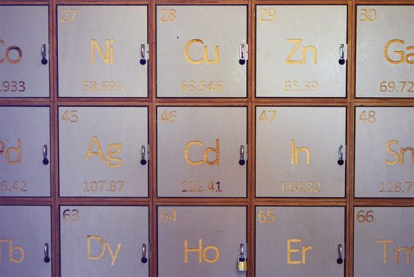 I loved the lab and science vibes at Clink Noord - all the decor was so fun, including these periodic table style lockers in reception