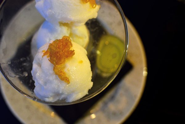 Marco's New York Italian - Lemon Sorbet with Frozen Limoncello