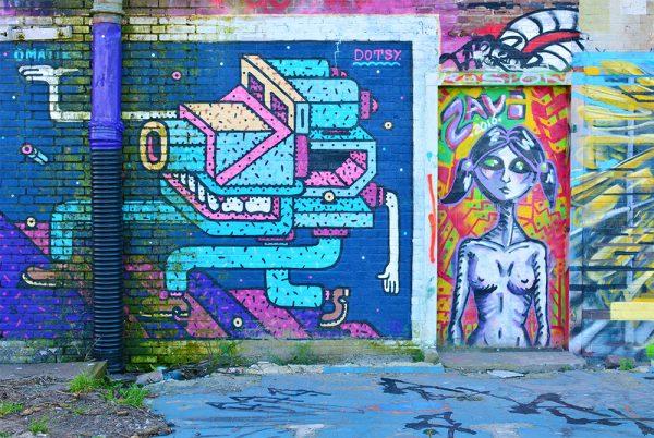Robot Street Art Amsterdam
