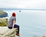 Outfit Post: Orla Kiely at Tintagel Castle, Cornwall